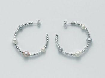 Orecchini Miluna in argento con perle Vortice PER1844AG