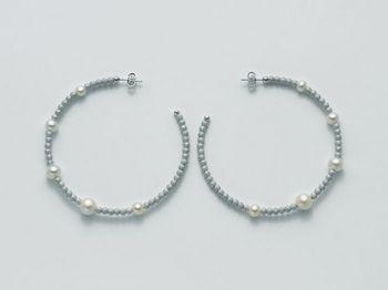 Orecchini Miluna in argento con perle Vortice PER1846AG