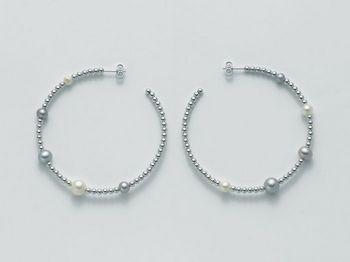 Orecchini Miluna in argento con perle Vortice PER1848AG