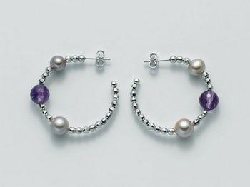 Orecchini Miluna in argento con perle Vortice PER1863AG