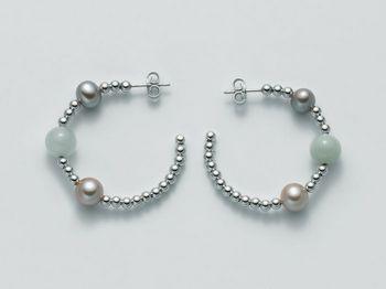 Orecchini Miluna in argento con perle Vortice PER1864AG