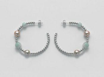 Orecchini Miluna in argento con perle Vortice PER1866AG
