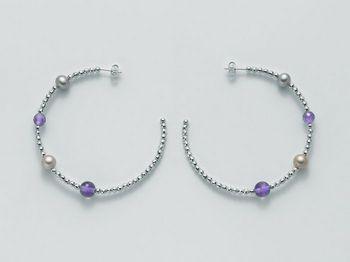 Orecchini Miluna in argento con perle Vortice PER1868AG
