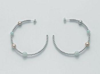 Orecchini Miluna in argento con perle Vortice PER1869AG