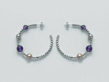 Orecchini Miluna in argento con perle Vortice PER1874AG