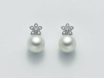 Orecchini Miluna in oro e diamanti con perle Parure Perle Australia PER1925AM