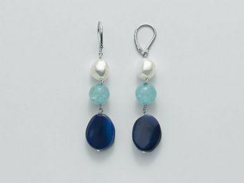 Orecchini Miluna in argento con perle I Segreti Della Terra PER2053