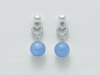 Orecchini Miluna in argento con perle Brio Color PER2070