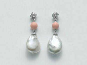 Orecchini Miluna in argento con perle Perle Di Seta PER2082