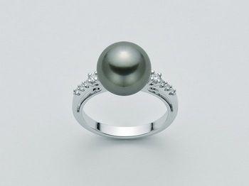 Anello con perla Miluna in oro e diamanti Parure Perle Tahiti PLI1061TM