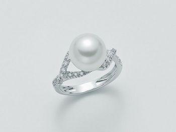 Anello con perla Miluna in oro e diamanti Parure Perle Australia PLI1062AM