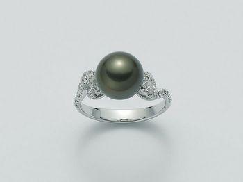 Anello con perla Miluna in oro e diamanti Parure Perle Tahiti PLI1335TM
