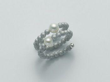 Anello con perla Miluna in argento Vortice PLI1359AG