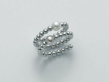 Anello con perla Miluna in argento Vortice PLI1361AG