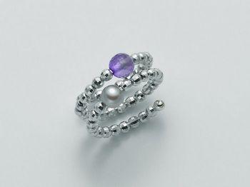 Anello con perla Miluna in argento Vortice PLI1378AG