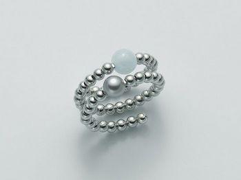 Anello con perla Miluna in argento Vortice PLI1379AG