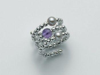 Anello con perla Miluna in argento Vortice PLI1381AG