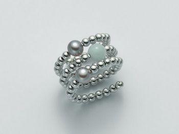 Anello con perla Miluna in argento Vortice PLI1382AG