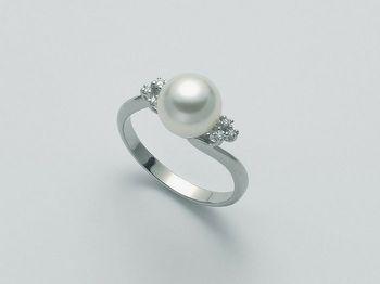 Anello con perla Miluna in oro e diamanti Parure Perle Akoya PLI1432M