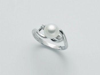 Anello con perla Miluna in oro e diamanti Parure Perle PLI1467