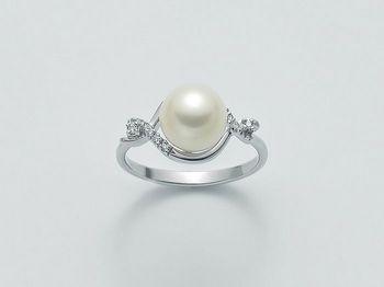 Anello con perla Miluna in oro e diamanti Parure Perle PLI1493