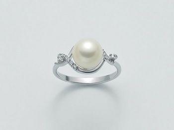 Anello con perla Miluna in oro e diamanti Oro 375 Parure Perle PLI1493X