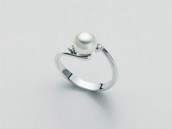 Anello con perla Miluna in oro e diamanti Parure Perle PLI729