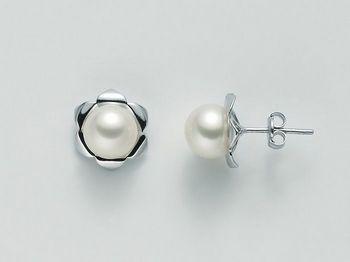 Orecchini di perle Miluna in oro Perle Gemelle Regina POO657BM