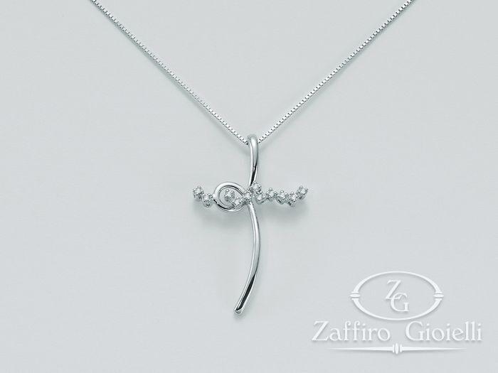 Collana Miluna in oro e diamanti Le Croci In Diamanti CLD2817