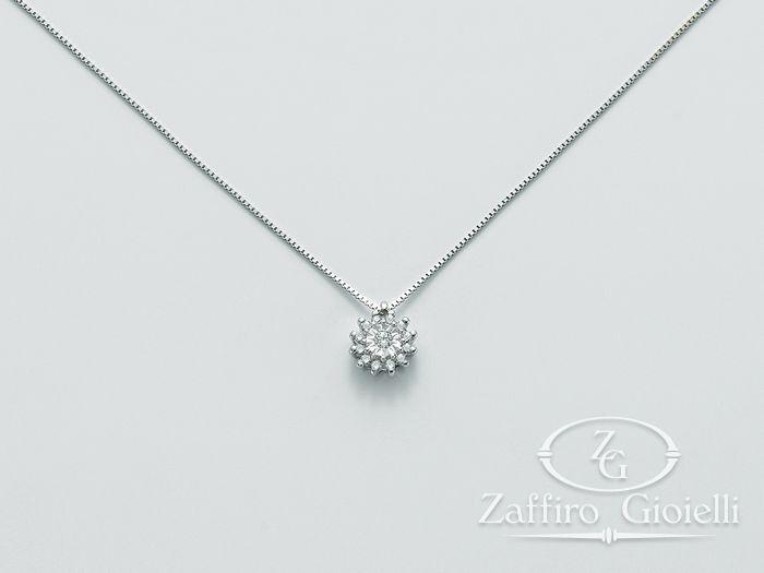 Collana Miluna in oro e diamanti Solitario Di Diamanti CLD3423