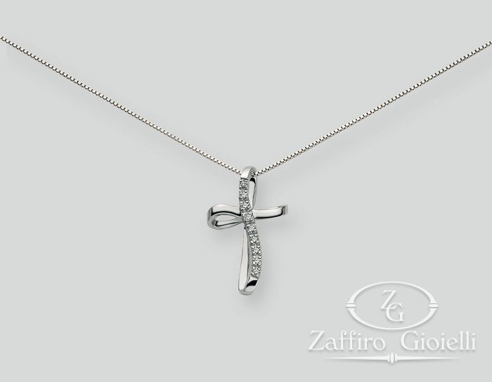 Collana Miluna in oro e diamanti Oro 375 Le Croci In Diamanti CLD745X