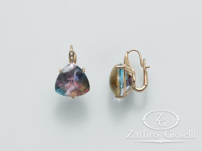 Orecchini Miluna in oro e diamanti Invisible Cut ERD1948R