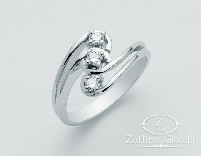 Anello Miluna in oro e diamanti Le Riviere Diamante Puro LID1629-D18