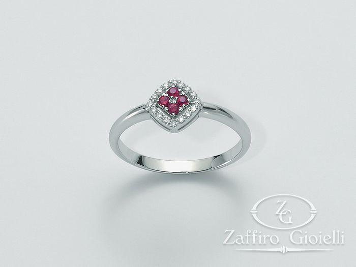 Anello Miluna in oro e diamanti Rubino LID2741