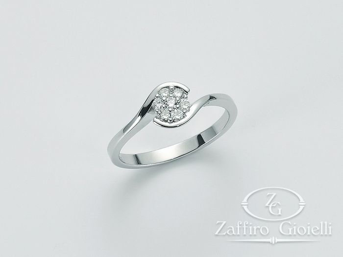 Anello Miluna in oro e diamanti Diamond River LID2861