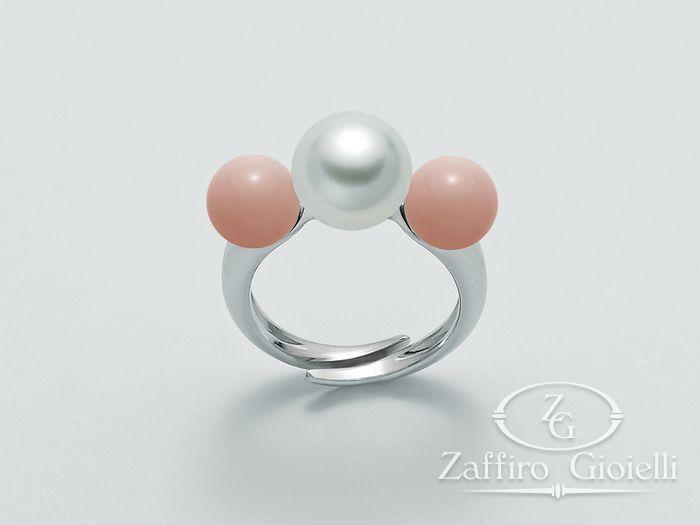 Anello con perle Miluna in argento Terra e Mare LID3029