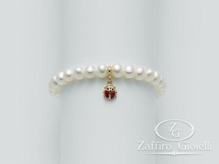 Bracciale Miluna in oro con perle Baby - Luna PBR1040GM15