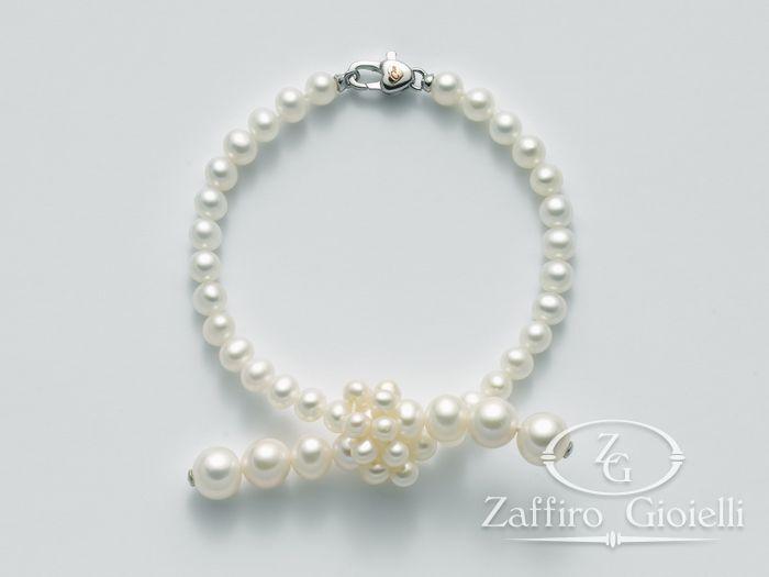 Bracciale Miluna in oro con perle Giochi Di Perle PBR2077