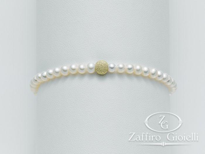 Bracciale Miluna in oro con perle I Bracciali Perle PBR893G