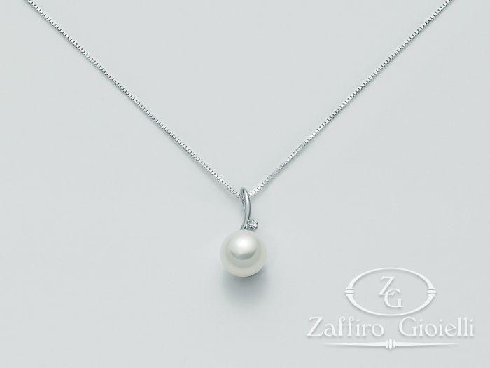 Collana Miluna in oro e diamanti con perle Oro 375 Parure Perle PCL1875X