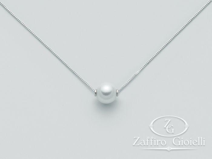 Collana Miluna in oro con perle Oro 375 Parure Perle PCL2457X