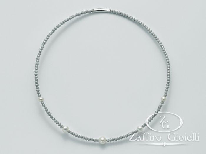 Collana Miluna in argento con perle Vortice PCL4217AG