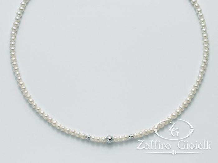 Collana Miluna in oro con perle Oro 375 Le Collane Perle PCL4329X
