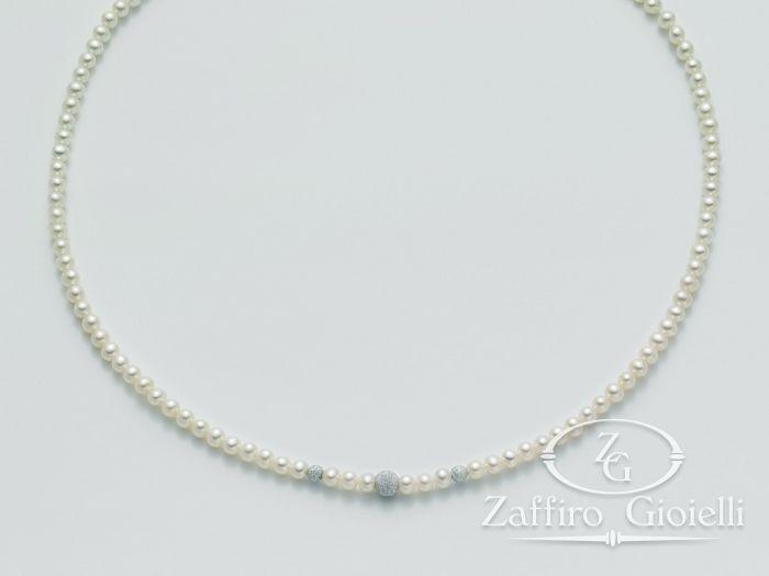 Collana Miluna in oro con perle Filo Della Bellezza PCL4537