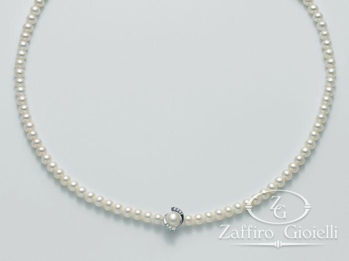 Collana Miluna in oro e diamanti con perle Oro 375 Le Collane Perle PCL4570X