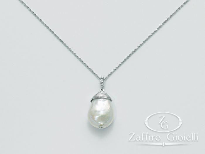 Collana Miluna in argento con perle Perle Di Seta PCL4870