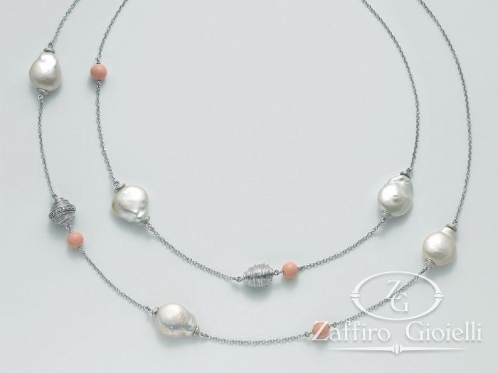 Collana Miluna in argento con perle Perle Di Seta PCL4872