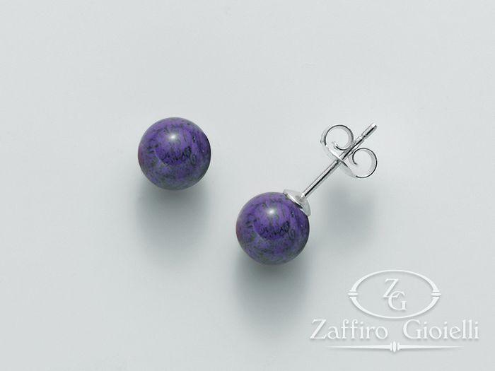 Orecchini viola Miluna in argento Terra e Mare PER2010