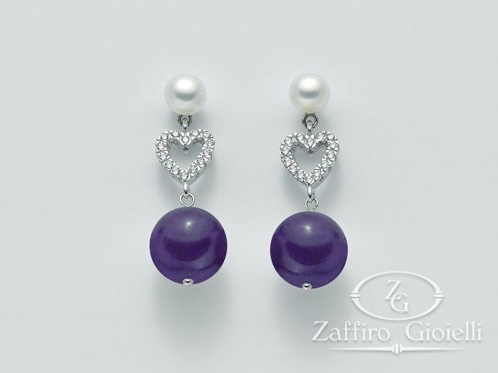 Orecchini Miluna in argento con perle Brio Color PER2071