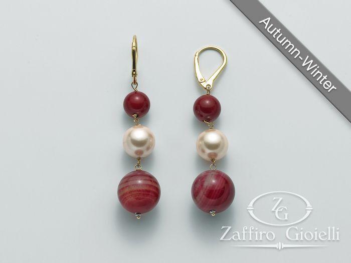 comprare a buon mercato 2aac0 26fcd Orecchini rossi Miluna in argento I Segreti Della Terra PER2089 - Zaffiro  Gioielli
